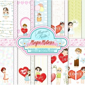 Zestaw papierów Magia Miłości 15x15cm
