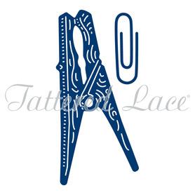 Wykrojnik Tattered Lace Peg & Paper Clip Spinacze 2 el.