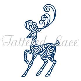 Wykrojnik Tattered Lace Majestic Stag Renifer