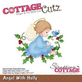 Wykrojnik Cottage Cutz Angel with Holly Aniołek
