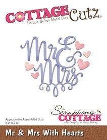 Wykrojnik Cottage Cutz Mr & Mrs + serca