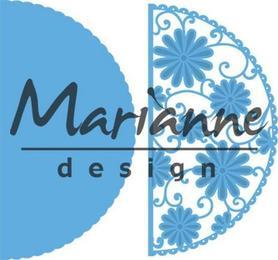 Wykrojnik Marianne Design Border półkolisty Kwiaty