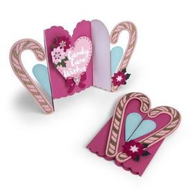 Wykrojnik Sizzix Card Candy Cane Fold-a-Long 13el