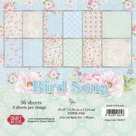 Zestaw papierów Bird Song 15x15cm