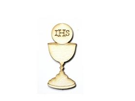 (TEK-LM1) Kielich z hostią IHS z tekturki