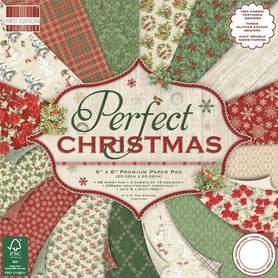 Zestaw papierów Perfect Christmas 20x20 cm 48 ark.