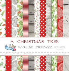 Zestaw papierów Wigilijne drzewko 30x30cm