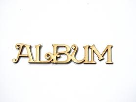 (TEK-LM5) Napis ALBUM z tekturki