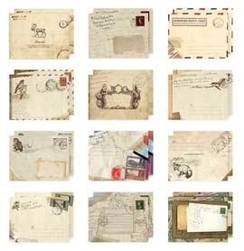 Zestaw 12 mini kopert w stylu vintage