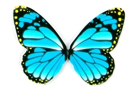 Motyle papierowe 6,5x5cm (wzór 1) - 10 szt.