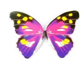Motyle papierowe 6,5x5cm (wzór 2) - 10 szt.