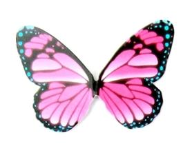 Motyle papierowe 6,5x5cm (wzór 3) - 10 szt.