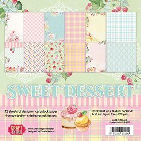 Zestaw papierów Sweet Dessert 30,5x30,5cm