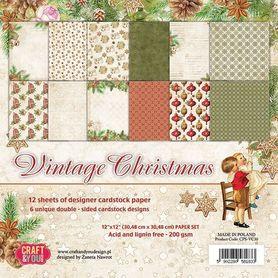 Zestaw papierów Vintage Christmas 30,5x30,5cm