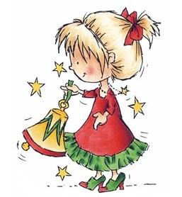 Stempel silikonowy - dziewczynka z dzwoneczkiem