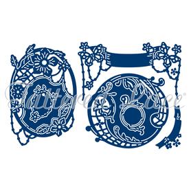 Wykrojnik - Tattered Lace  3D Banners & Tags