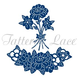 Wykrojnik - Tattered Lace  Unicorn Flowers