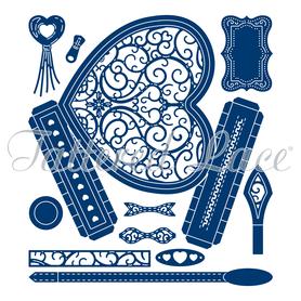 Wykrojnik - Tattered Lace  Heart Handbag