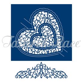 Wykrojnik - Tattered Lace  Swing Lace Heart