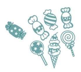 Wykrojnik Zestaw  cukierków/słodyczy 7 el. (10426)