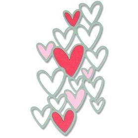 Wykrojnik Sizzix Thinlits Die - Scattered Hearts