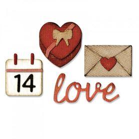 Wykrojnik Sizzix Thinlits Valentine + folder