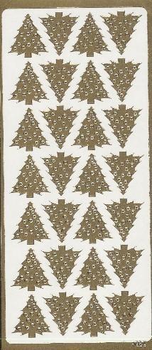 Naklejka ozdobna CHOINKI złote 1626