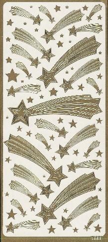 Naklejka ozdobna GWIAZDA BETLEJEMSKA 1856 złota