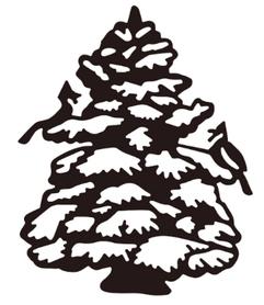 Wykrojnik AC Choinka ze śniegiem
