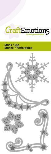 Wykrojnik Corner ornament Śnieżynki Gwiazdki 0188