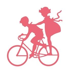 Wykrojnik Dzieci na rowerze (10132)