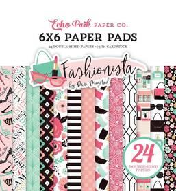 Zestaw papierów Echo Park - Fashionista  15x15cm
