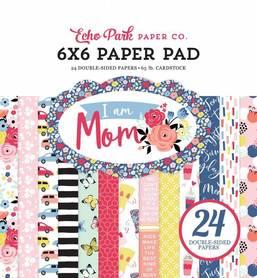 Zestaw papierów Echo Park - I Am Mom  15x15 cm