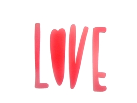 (P4) Napis LOVE
