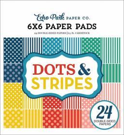 Zestaw papierów Echo Park - Summer Dots & Stripes 15x15cm