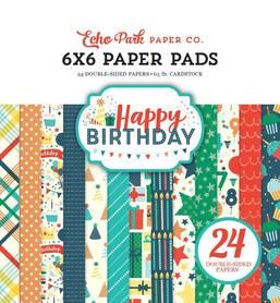 Zestaw papierów Echo Park - Happy Birthday Boy 15x15cm