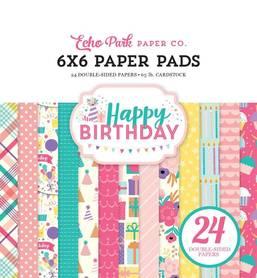 Zestaw papierów Echo Park - Happy Birthday Girl 15x15cm