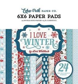 Zestaw papierów Echo Park - I Love Winter 15x15cm