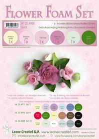 25.4988 Pianka do wykonywania kwiatków A4-zestaw 8