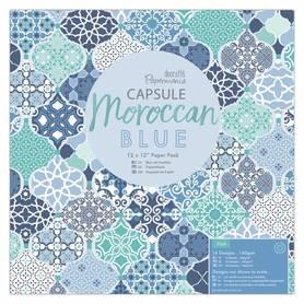Zestaw papierów 30x30 cm Papermania Moroccan Blue
