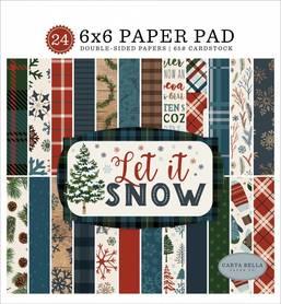 Zestaw papierów Carta Bella - Let It Snow 15x15cm