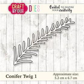 CW031 Wykrojnik Conifer Twig 1 - Gałązka iglasta 1