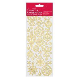 Zestaw naklejek świątecznych (810933) - złote
