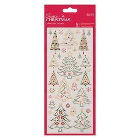 Zestaw naklejek świątecznych (818922) - Choinki