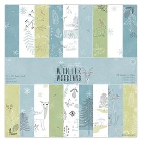 Zestaw papierów Winter Woodland 30x30 cm - 36ark
