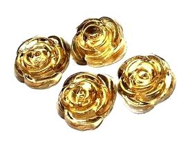 Róże z żywicy - 14mm - 4 szt.
