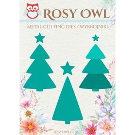 Wykrojnik Rosy Owl - Choinki 9 el.