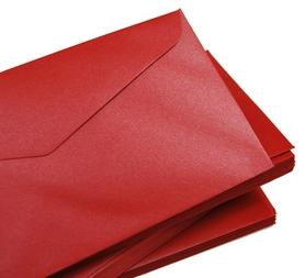 Koperta ozdobna czerwona C6 120 g