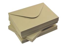 Koperta ozdobna brązowa ECO kraft C6 90 g
