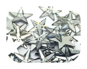 Gwiazdki akrylowe 1,5 cm 20 szt. - srebrne